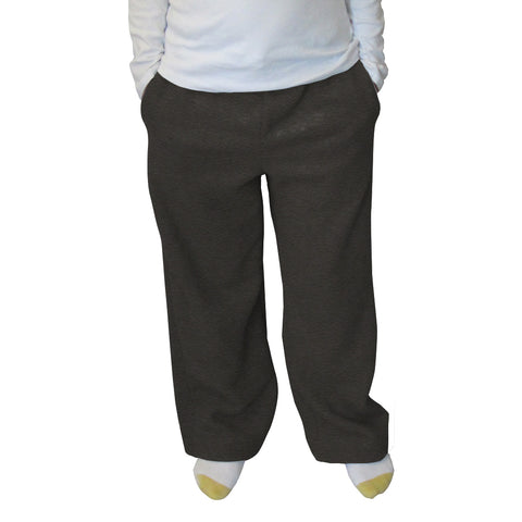Heather Grey Solid Womens Adult Pant