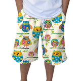 Hooting Owls Adult Knee Length Short
