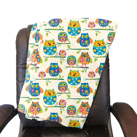 Hooting Owls Blanket - Single Sided