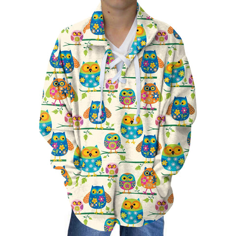 Hooting Owls Youth Collared Top