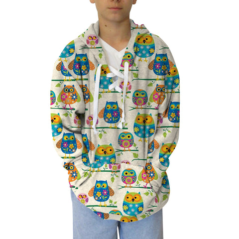 Hooting Owls Youth Hooded Top