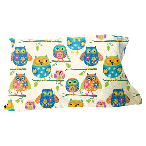 Hooting Owls Pillow Case