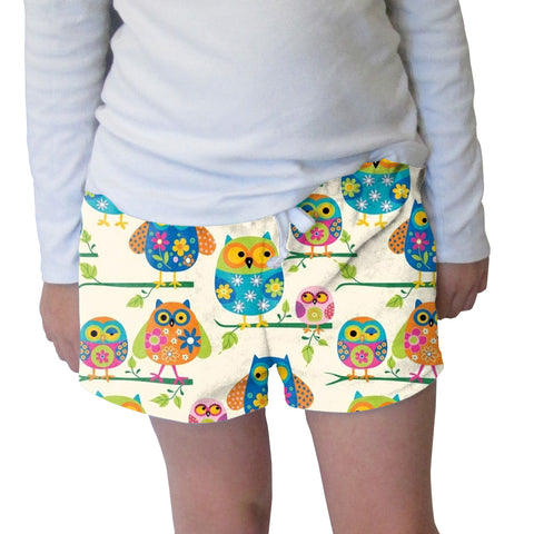 Hooting Owls Womens Short Short