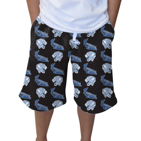 Jefferson Jaguars Black Adult Knee Length Short