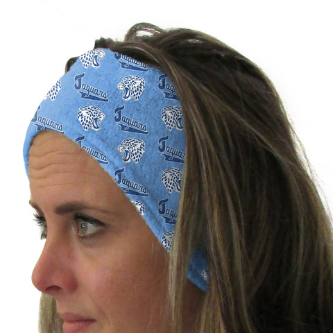 Jefferson Jaguars Olympian Blue Youth and Adult Head Band