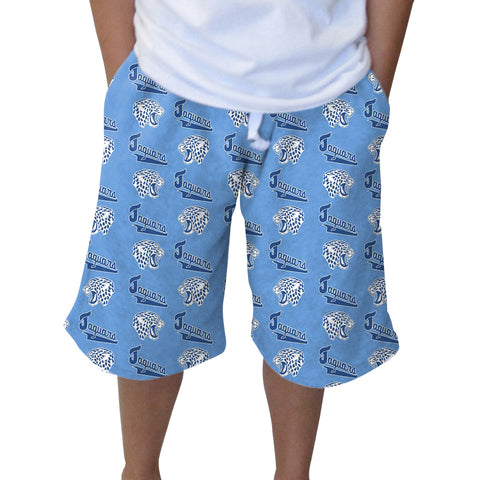 Jefferson Jaguars Olympian Blue Youth Knee Length Short