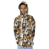 Kitties Rule Youth Hooded Top