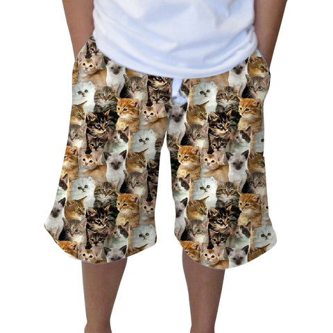 Kitties Rule Youth Knee Length Short