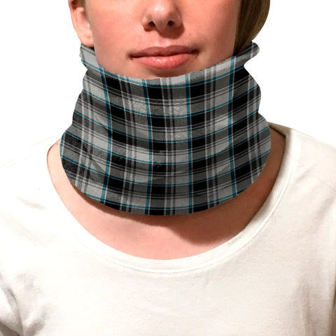 London Plaid Charcoal Youth and Adult Neck Warmer