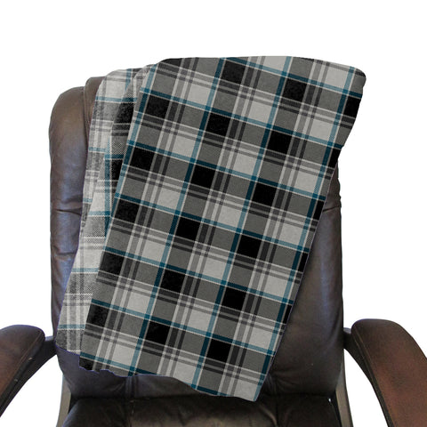London Plaid Charcoal Blanket - Double Sided