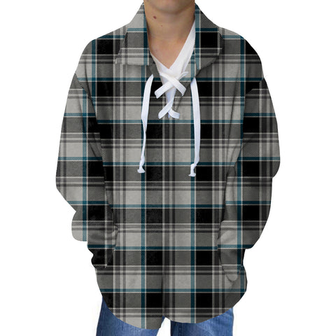 London Plaid Charcoal Youth Collared Top