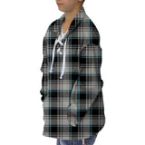 London Plaid Charcoal Adult Collared Top