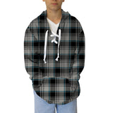 London Plaid Charcoal Adult Hooded Top