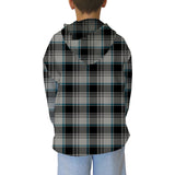 London Plaid Charcoal Youth Hooded Top
