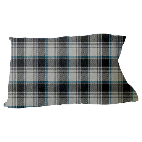 London Plaid Charcoal Pillow Case