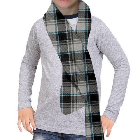 London Plaid Charcoal Scarf - Double Sided
