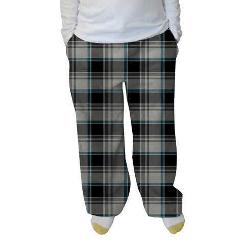 London Plaid Charcoal Womens Adult Pant