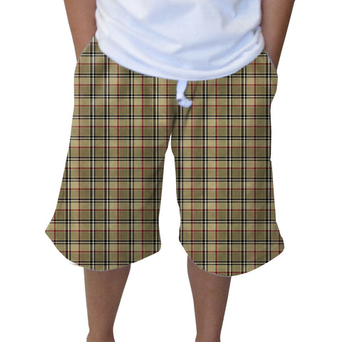 London Plaid Youth Knee Length Short