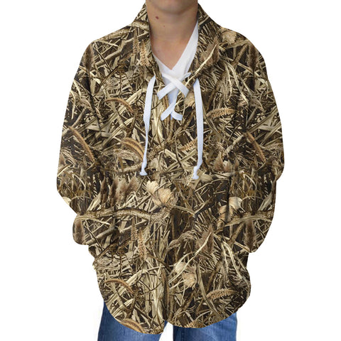 Marsh Camo Youth Collared Top