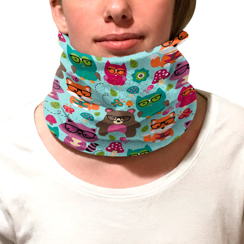Nerdy Forest Buddies Youth and Adult Neck Warmer