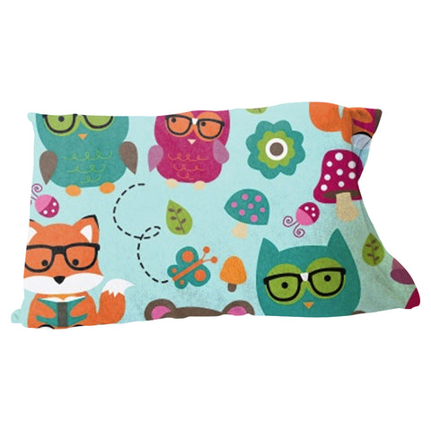 Nerdy Forest Buddies Pillow Case
