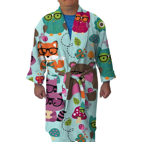 Nerdy Forest Buddies Youth and Adult Robe