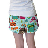 Nerdy Forest Buddies Womens Short Short