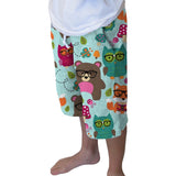 Nerdy Forest Buddies Youth Knee Length Short