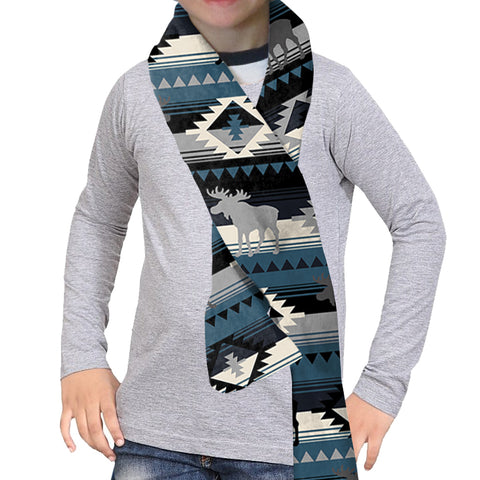 Northern Moose Scarf - Double Sided