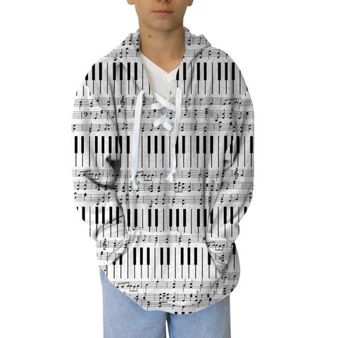 Piano Piano! Adult Hooded Top