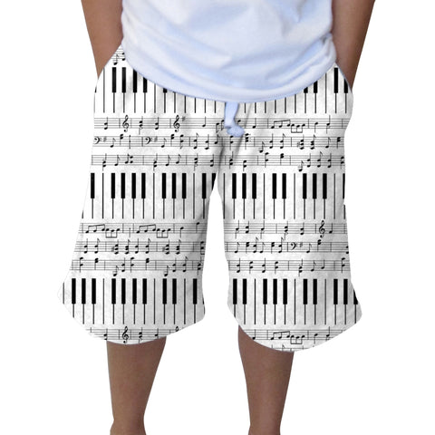 Piano Piano! Youth Knee Length Short