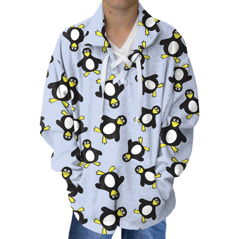Penguin Party Youth Collared Top