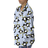 Penguin Party Adult Collared Top