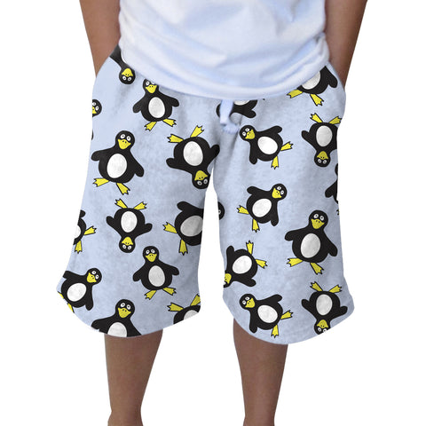Penguin Party Youth Knee Length Short