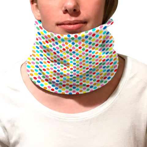 Polka Dots Multi Color Youth and Adult Neck Warmer