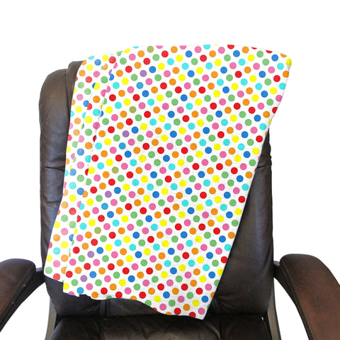 Polka Dots Multi Color Blanket - Single Sided