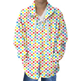Polka Dots Multi Color Youth Collared Top
