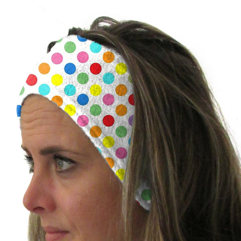 Polka Dots Multi Color Youth and Adult Head Band