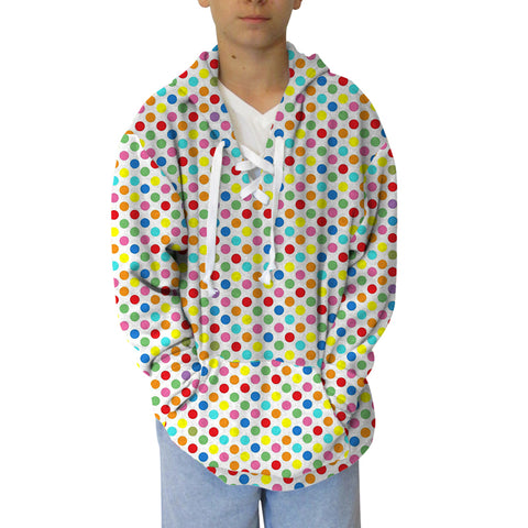 Polka Dots Multi Color Adult Hooded Top