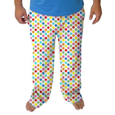 Polka Dots Multi Color Mens Adult Pant