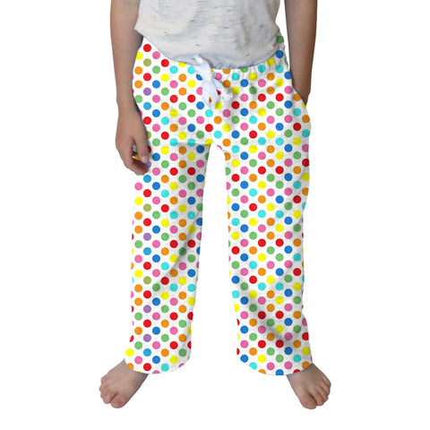 Polka Dots Multi Color Youth Pant