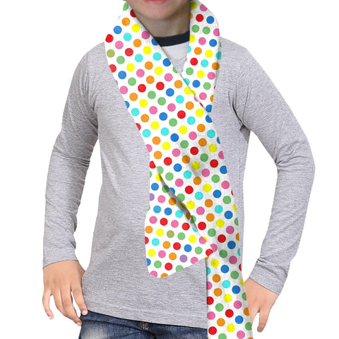 Polka Dots Multi Color Scarf - Double Sided