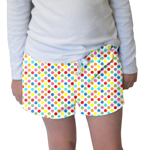 Polka Dots Multi Color Womens Short Short