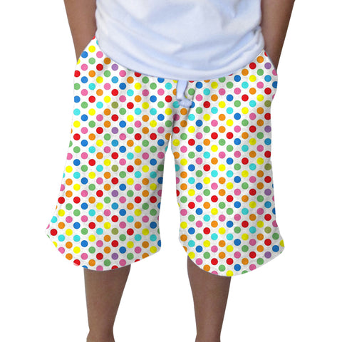 Polka Dots Multi Color Youth Knee Length Short