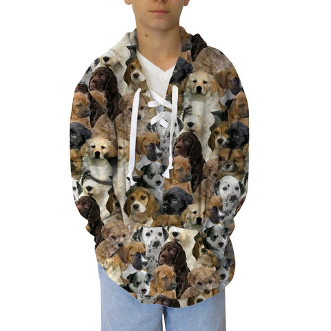 Puppies Rule Youth Hooded Top