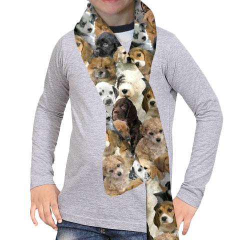 Puppies Rule Scarf