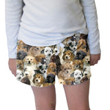 Puppies Rule Womens Short Short