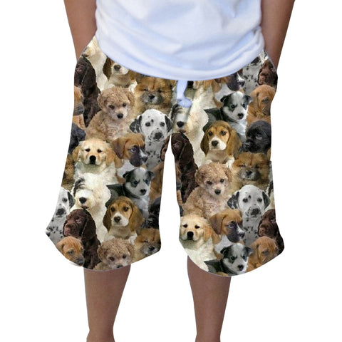 Puppies Rule Youth Knee Length Short