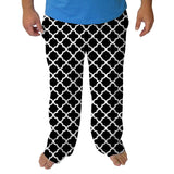Quatrefoil Black Mens Adult Pant