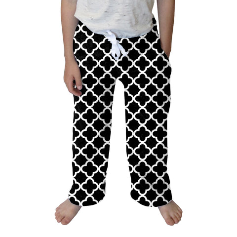 Quatrefoil Black Youth Pant